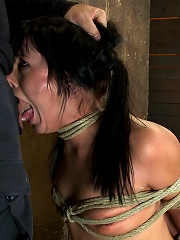 Cute girl next door with Daddy issues, get severely bound, brutally deep throated. Multiple orgasms!