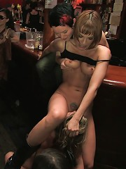 All Girl Public Disgrace Ariel X humiliated and used in a queer bar
