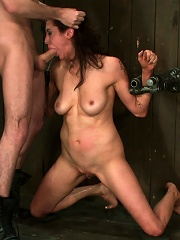 Princess Donna reduced to a common peasant Bound helpless, sucking and getting fucked.